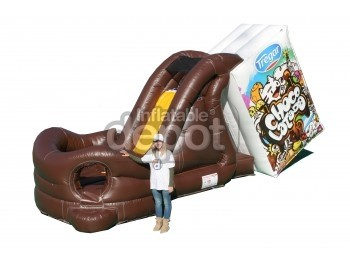 Milk Chocolate Inflatable Slide