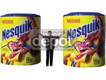 Inflatable Nesquick cans