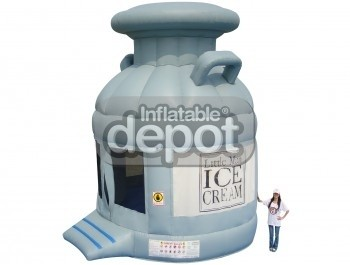 Inflatable ice can